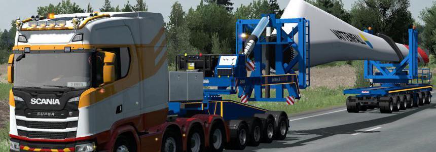 70 Tons Wind Blade Mega Transport 1.38