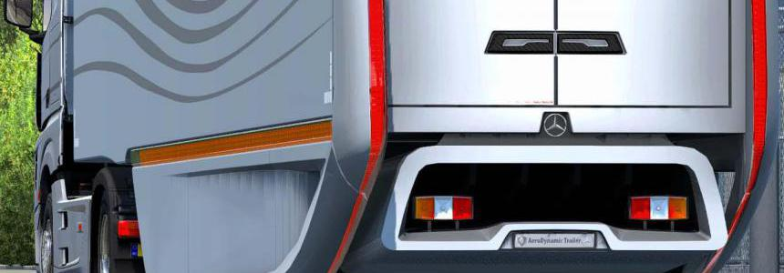 Mercedes AeroDynamic Trailer v1.2 ETS2 1.38