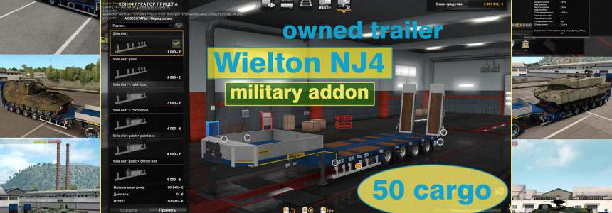 Military Addon for Ownable Trailer Wielton NJ4  v1.5.3