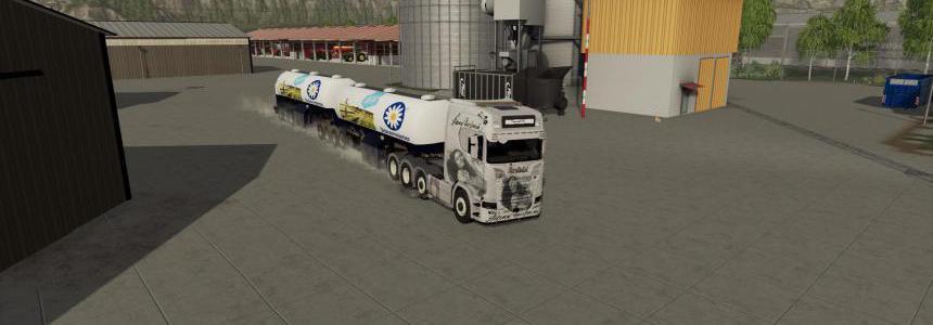 Milk trailer Semi roadtrain v1.1.0.0