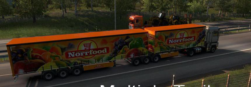 Multiple Trailers in Traffic v6.1 ETS2 1.38