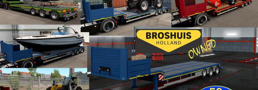 Ownable overweight trailer Broshuis  v1.2.4