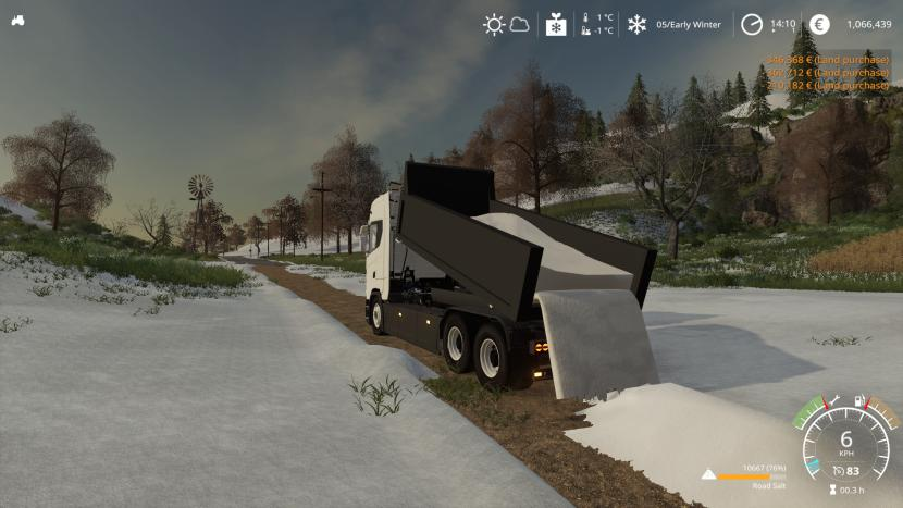 Scania tipper with plow v2.0.2.0