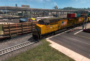 Long trains addon (up to 150 cars) for mod Improved Trains v3.5
