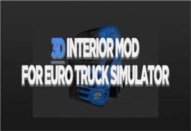 3D Interior Mod for ETS2 v1.04