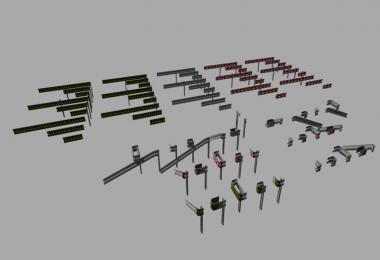 Crash Barriers B Profil Set (Prefab) v1.0
