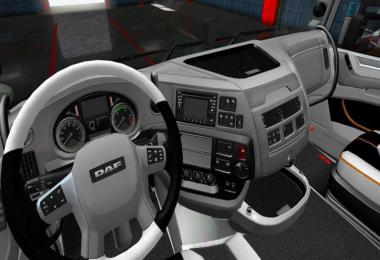 DAF XF Black - White Interior v1.0