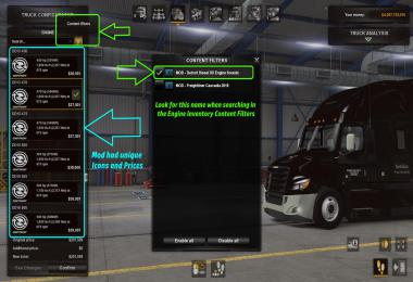 Galimim's Freightliner Cascadia New Detroit Diesel Sounds 1.38