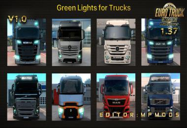 Green Lights For Trucks V1.0 For Multiplayer ETS2 1.37