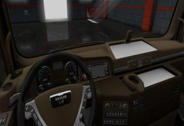 MAN TGX Brown Interior v1.0 1.37 - 1.38