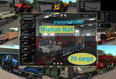 Ownable overweight trailer Wielton NJ4  v1.7.4