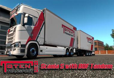 Toten Transport Scania S Tandem v1.0