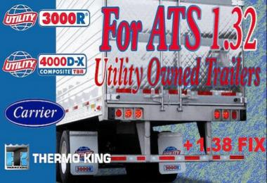 Utility 3000R/4000D-X Owned Trailer for ATS + 1.38 FIX
