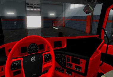 VolvoFH16 2012 Black - Red interior v1.0 1.37 - 1.38