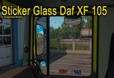 Stickers Glass for Daf XF 105 1.38