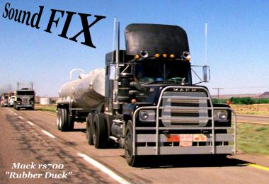 Sound fix for Mack RS 700 & RS 700 Rubber Duck v1.1