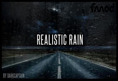 Realistic Rain v3.7.1 ETS2 1.38