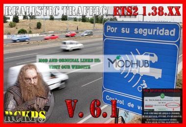 Realistic traffic v6.1 For ETS2 1.38.x