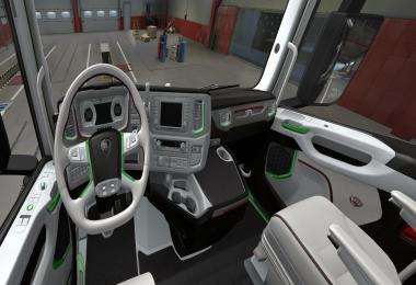 SCANIA S 2016 Interior White with Green v1.0