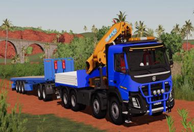 Volvo FMX 8x4 Crane Truck v1.1