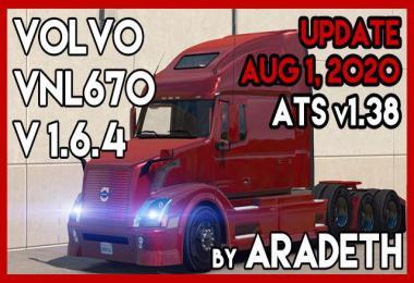 Volvo VNL 670 by ARADETH v1.6.4