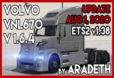 Volvo VNL 670 by ARADETH (ETS2 v1.38) v1.6.4