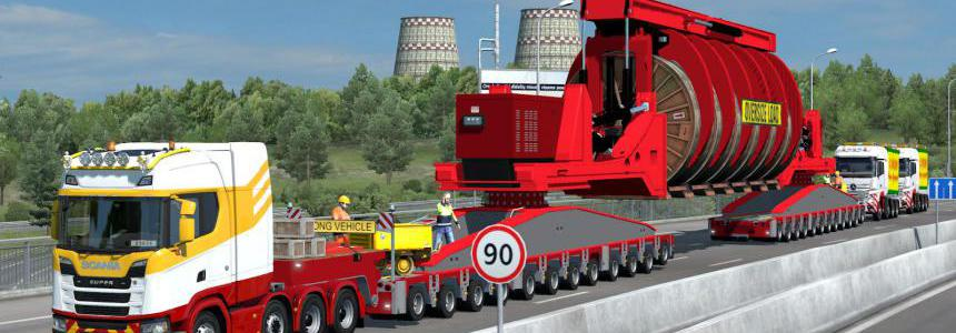 260 Tons Industrial Cable Reel Transport with Support Trucks 1.38