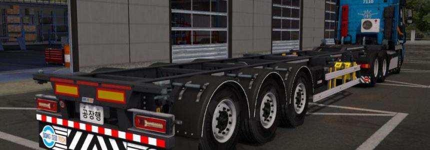 Korean container trailer v1.0 1.38