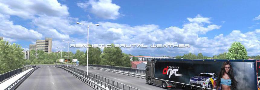 Realistic Brutal Weather V5.5 ETS2 1.38