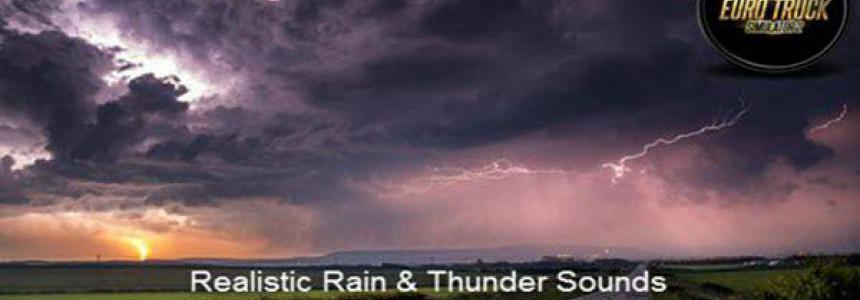 Realistic Rain & Thunder Sounds v3.5 ETS2 1.38