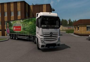 Lena Trucker youtube Curtainside Trailer v1.0