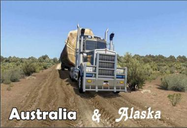 Australia & Alaska Map 1.38