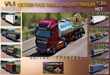 Cistern Food Single And HCT Trailer v1.1 For ETS2 Multiplayer 1.38