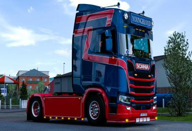 Dutch Style metallic Skin for Scania S v1.0
