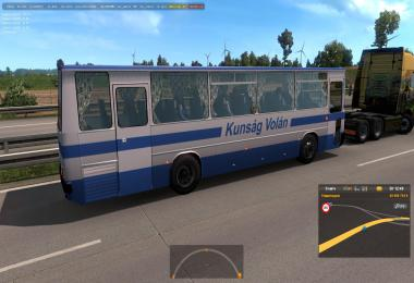 Hungarian buses Ikarus 255,260 in traffic ETS2 1.38.x