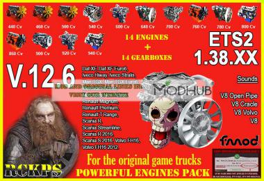 Pack Powerful engines + gearboxes v12.6 for 1.38.x