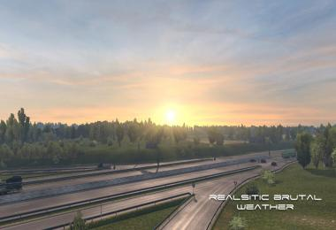 Realistic Brutal Weather v5.6 ETS2 1.38