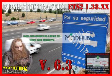 Realistic Traffic v6.3 For ETS2 1.38.x