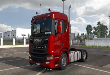Scania L6 Straight Open pipe Sound Mod 1.38