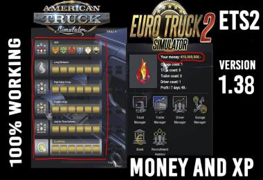 XP And MONEY Mod ETS2 1.38