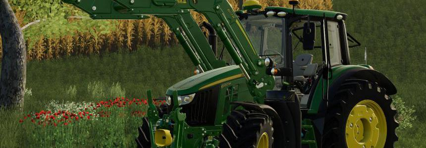 John Deere 6M Series with 603R front loader v1.0