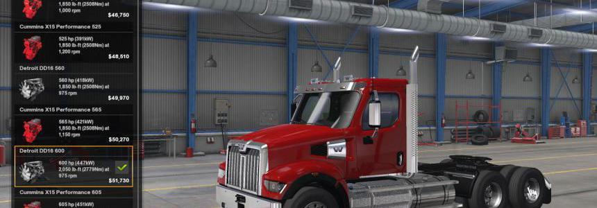 SCS Western Star 49x original engines sound update v1.0