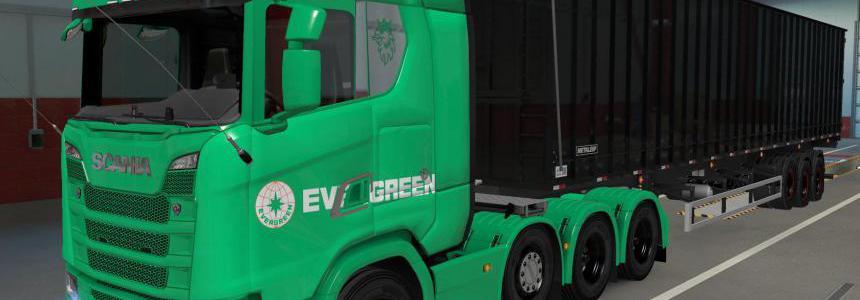 SKIN SCANIA S 2016 8X4 EVERGREEN GREEN 1.39