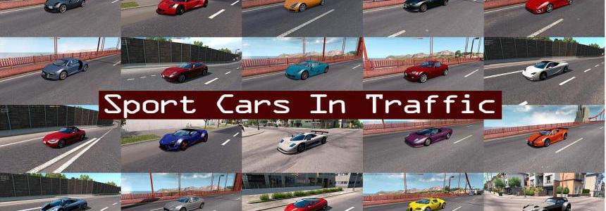 Sport Cars Traffic Pack (ATS) by TrafficManiac v7.2