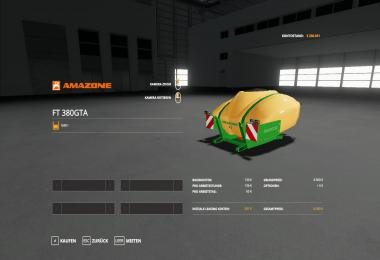 Amazone Fronttank Fendt F 380 GTA v1.0.0.1