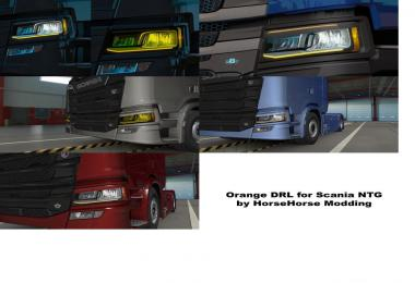 Orange DRL for Scania Next Gen 1.35 - 1.39
