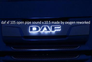 Daf Xf 105 Open Pipe Sound reworked v10.5