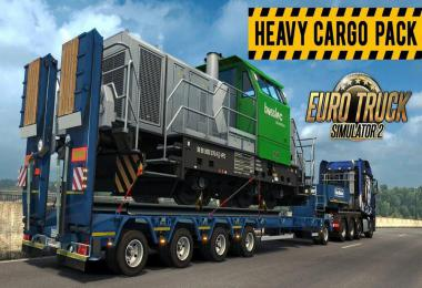 DLC Heavy Cargo Pack in Traffic ETS2 1.38.x and 1.39.x Beta