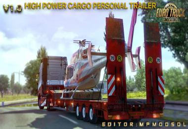 High Power Cargo Personal Trailer Mod For ETS2 Multiplayer v1.0