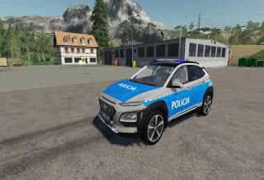 Hyundai Kona radiowoz policyjny v2.0